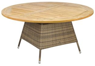 Alexander Rose Chichester Rattan Table with Teak Tabletop - 1.5m