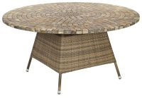 Alexander Rose Chichester Rattan Table with Marble Tabletop - 1.5m