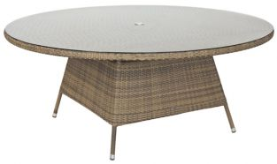 Alexander Rose Chichester Rattan Table with Glass Tabletop - 1.8m