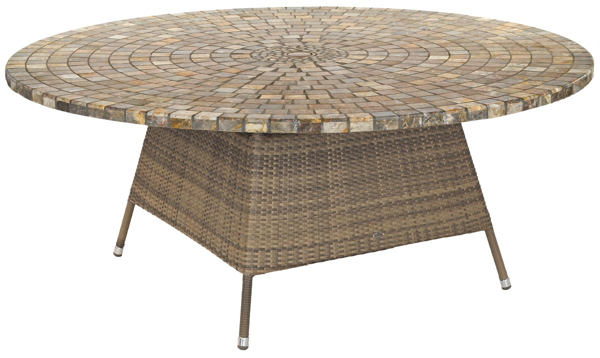 alexander rose chichester rattan table with marble tabletop. Black Bedroom Furniture Sets. Home Design Ideas