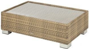 Alexander Rose Chichester Rattan Coffee Table with Glass Tabletop - 1.25m x 0.78m