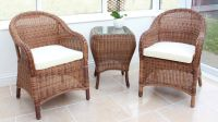 "Cozy Bay ""Sicilia"" Java Honey Rattan Tea for Two Set"