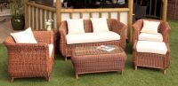 "Cozy Bay ""Jamaica"" Java Honey Rattan 4 Seater Sofa and Tables Set"
