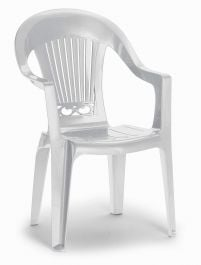 Set of Two California High Back Armchairs - White