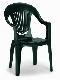 Set of Two California High Back Armchairs - Green