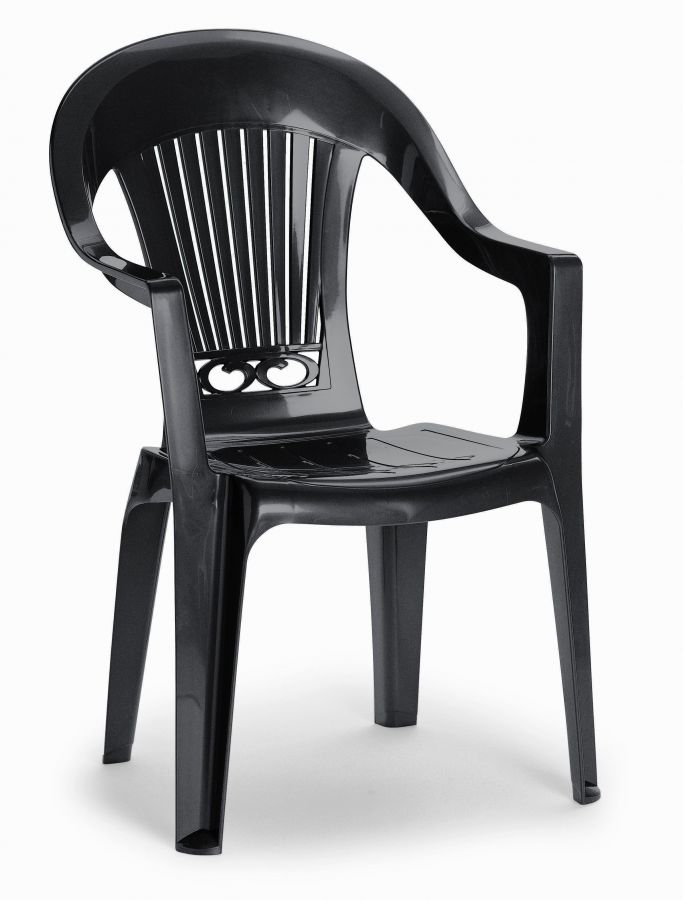 Splendida High Back Armchair - Grey