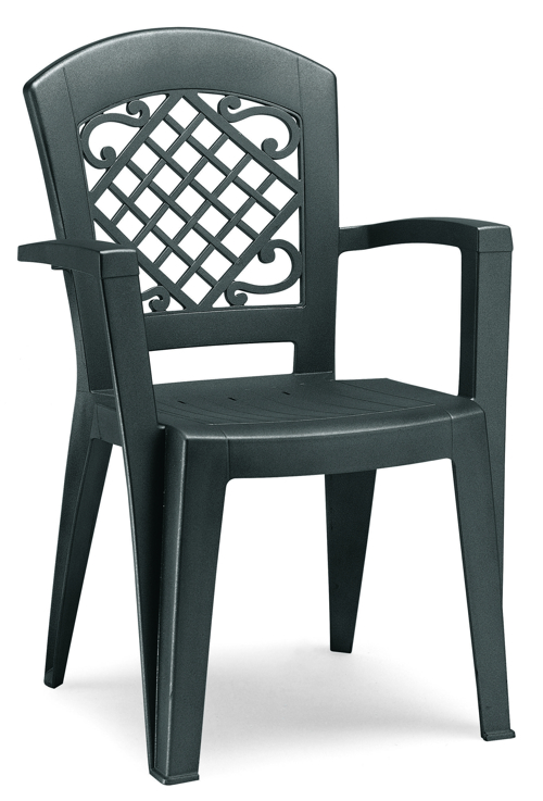 Juliette High Back Armchair - Grey