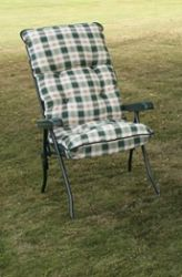 Capri Recliner - Green Frame with Cushion