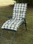 Capri Reclining Lounger - Green Frame with Cushion