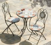 Star Mosaic Cast Iron 2 Seater Bistro Set