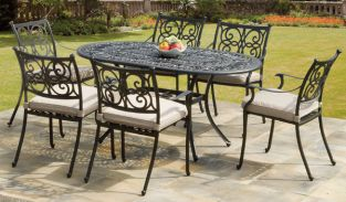 Guildford Cast Aluminium 6 Seater Dining Set