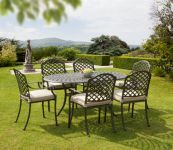 Buckingham Brown Cast Aluminium 6 Seater Dining Set