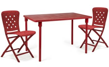 Zic Zac Classic Red Dining Set
