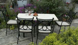 Montreux Marble Table with 6 Treviso Chairs