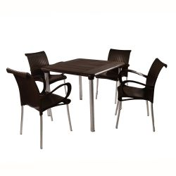 Coffee Maestrale 90 Table with 6 Coffee Dama Chairs