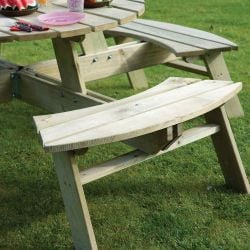 Eight Seater Round Wooden Picnic Table by Rowlinson®