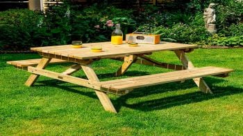 4ft Four Seater Wooden Picnic Bench