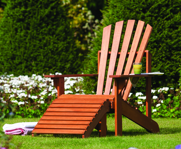 H1.3m (4ft 3in) Adirondack Hardwood Garden Chair by Rowlinson®