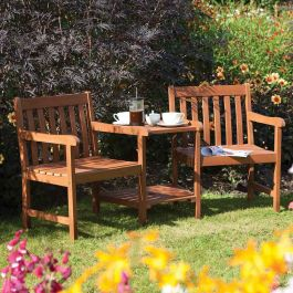 W1.8m (5ft 11in) Garden Companion Seat FSC® Hardwood by Rowlinson®