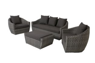 Ravello 3 Seater Lounge Suite Grey
