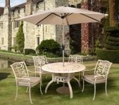 Ornamental 4 Seater Round Dining Set
