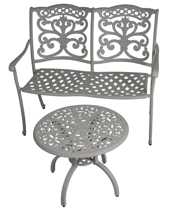 Ornamental Bench & Side Table