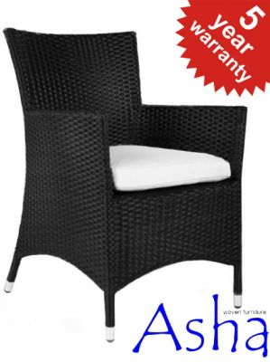 Pair Of Black Rattan Chairs Asha