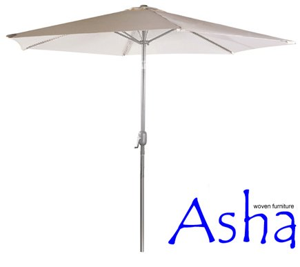 3m Aluminium Parasol with Base and Crank