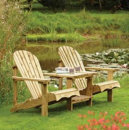 Two Seater Adirondack Companion Seat by Rowlinson®