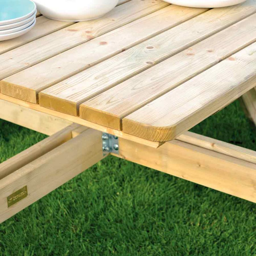 Eight Seater Square Picnic Table by Rowlinson®