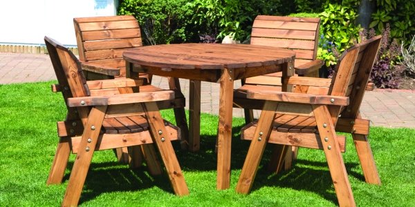 Redwood 4 Seater Round Dining Set