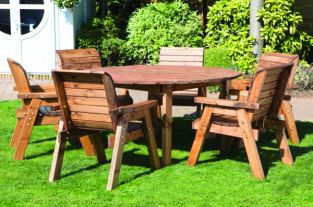 Redwood 6 Seater Round Dining Set