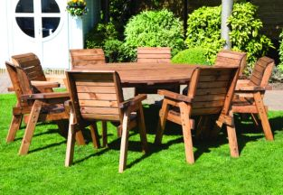 Redwood 8 Seater Round Dining Set by Charles Taylor