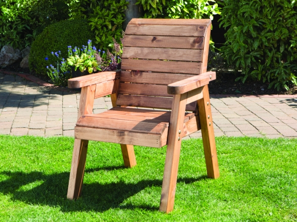 Charles Taylor Redwood Traditional Wooden Chair