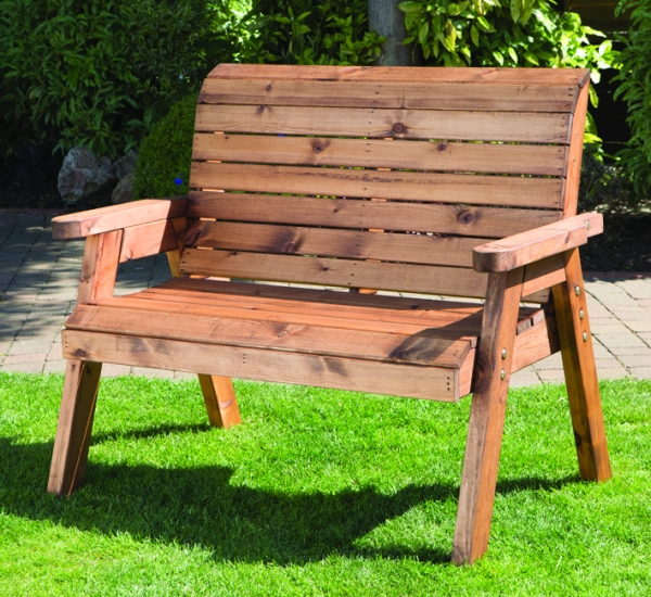 Charles Taylor Redwood Traditional Two Seater Bench