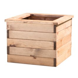 47cm Redwood Square Planter by Charles Taylor