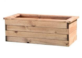 82cm Redwood Trough Planter by Charles Taylor