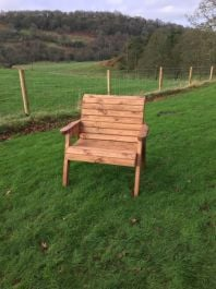 Large Wooden Outdoor Chair by Charles Taylor