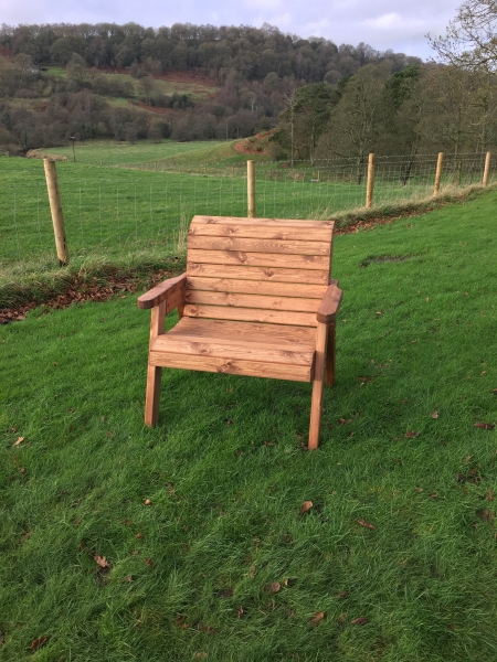 Charles Taylor Large Wooden Outdoor Chair