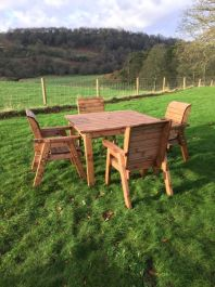 4 Seater Square Table Set
