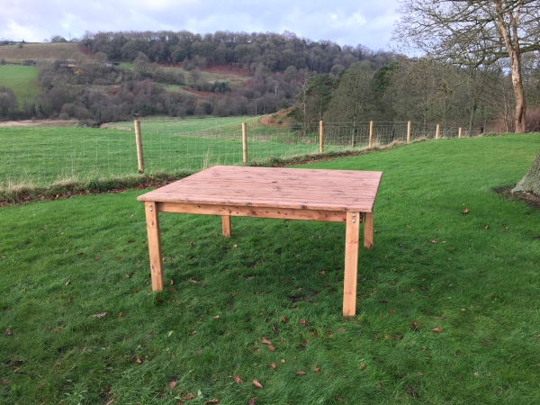 Eight Seat Square Dining Table - 167cm by Charles Taylor