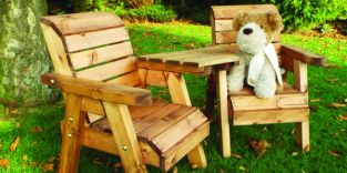 Little Fella's Redwood Childrens' Angled Companion Seat