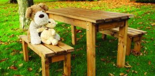 Charles Taylor Little Fellas Redwood Childrens ECO Bench with Seating