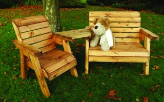 Little Fellas Redwood Childrens Angled Bench and Chair Companion Seat