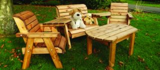 Charles Taylor Wooden Little Fellas Redwood Childrens Companion Seat with Table