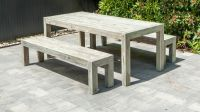 2m x 90cm Old England Grey Table by Alexander Rose