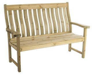 5ft Pine Farmers Bench by Alexander Rose