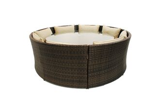 Maze Rattan - Dallas 12 Seater Sofa Set in Brown