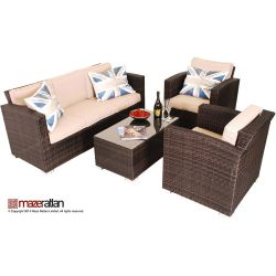 Maze Rattan - Kingston 3 Seater Sofa Set