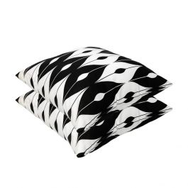 Black Pattern Outdoor Scatter Cushion 45x45cm - Pack Of 2